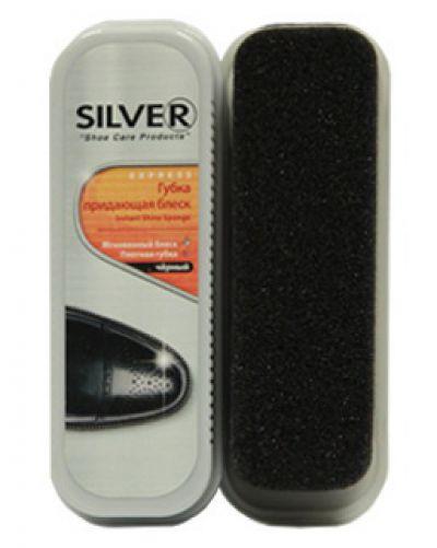 Silver губка для кожи чёрная