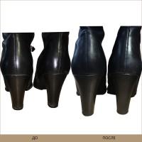 Замена обтяжки каблука
