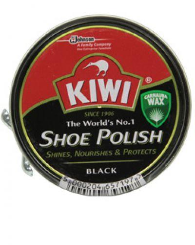 Kiwi крем для обуви металл банка Чёрный