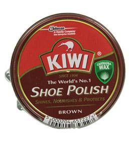 Kiwi Shoe Polish крем для гладких видов кож коричневый