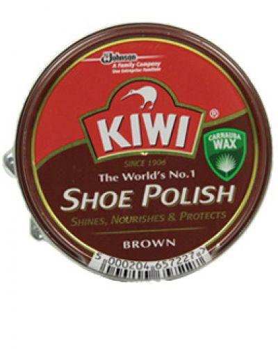 Kiwi крем для обуви металл банка Коричневый